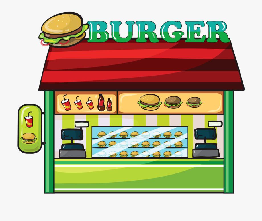 Fast Food Hamburger Clip Art.