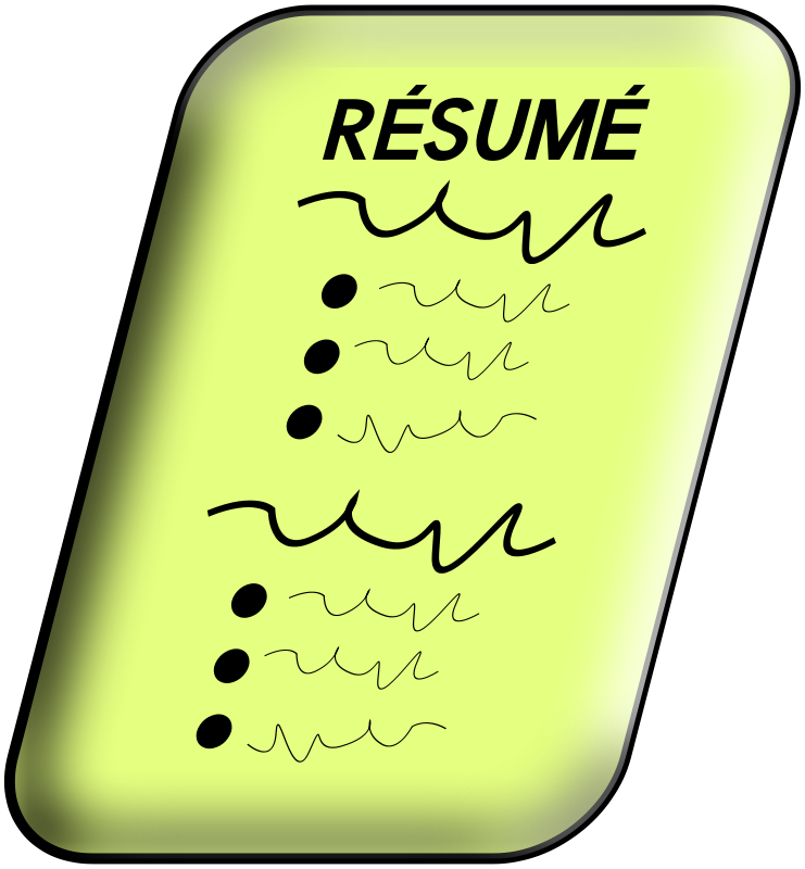 Free Clipart: Resume.