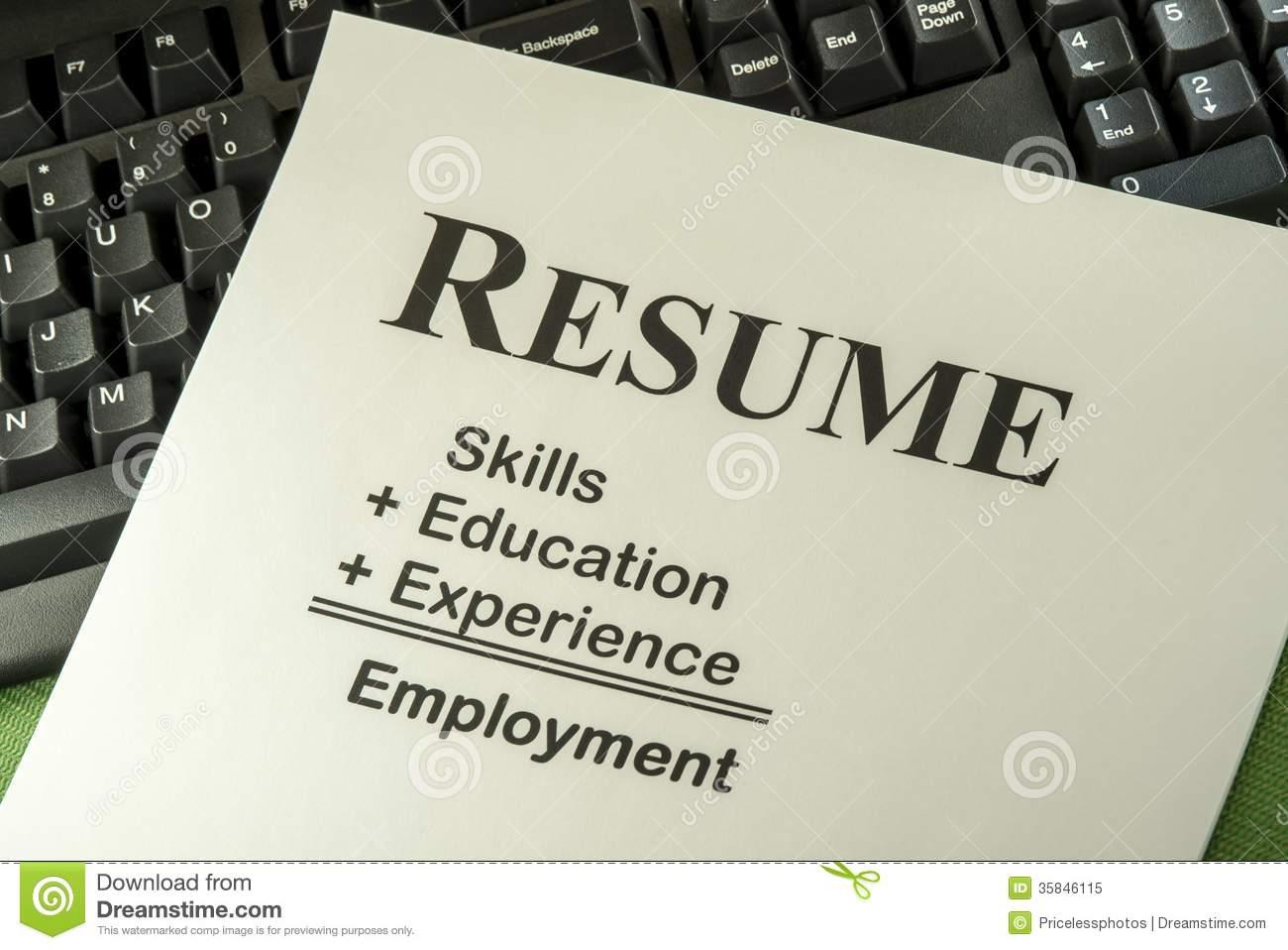 Resume Clipart.