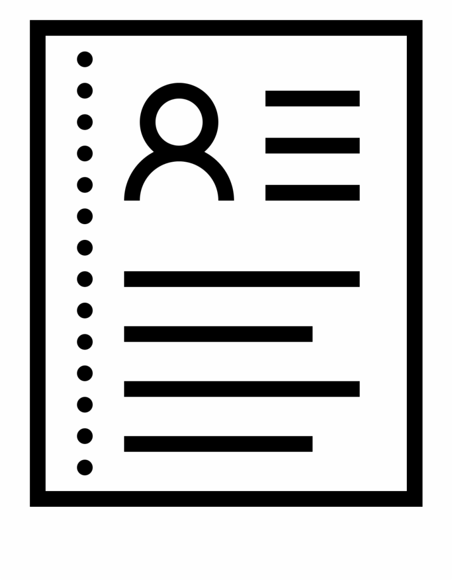 Lines Clipart Resume Resum Icon.