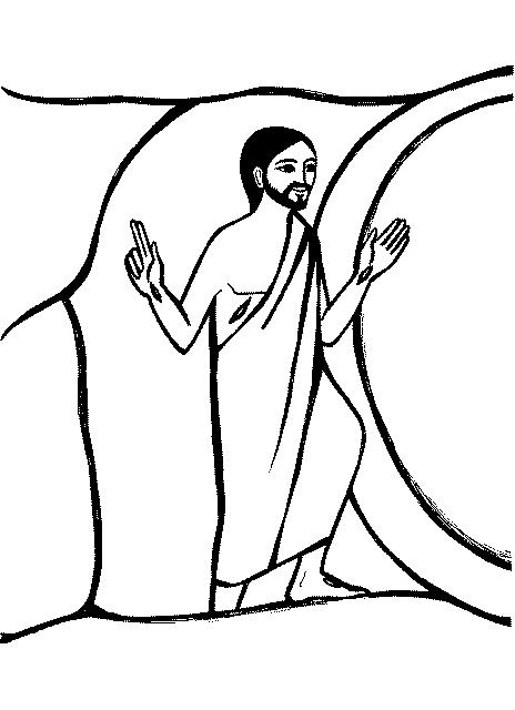 jesus risen clipart.