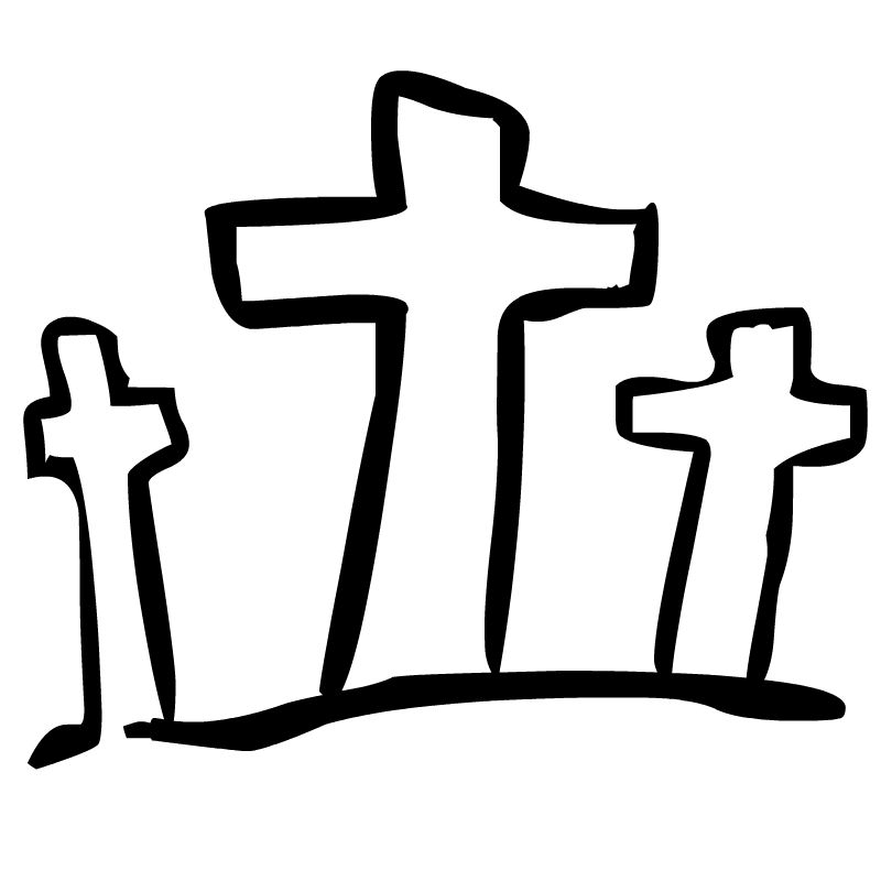 Cross Clipart Black And White.