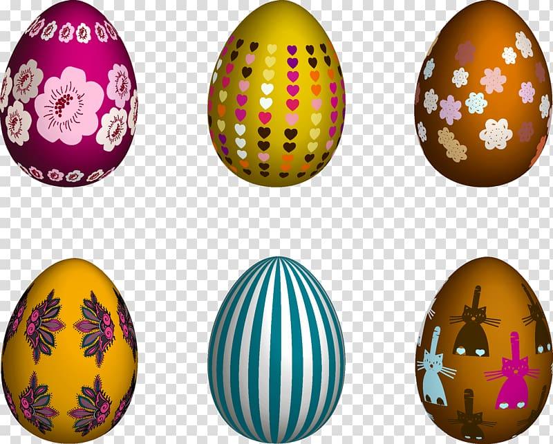 Easter Bunny Easter egg, Easter eggs transparent background.