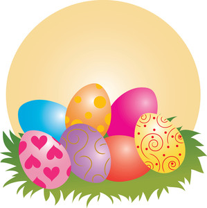 3978 Easter Eggs free clipart.