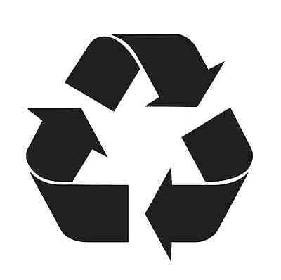 STENCIL **Recycle Symbol** for Signs Garbage Trash Bins.