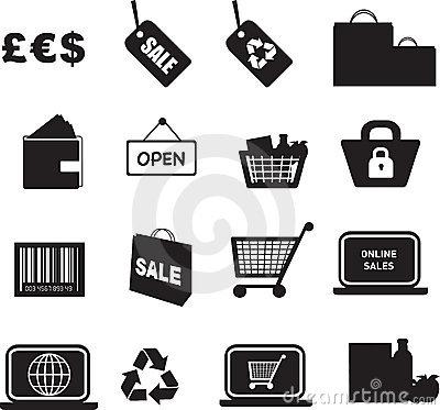 Retail Stock Illustrations.
