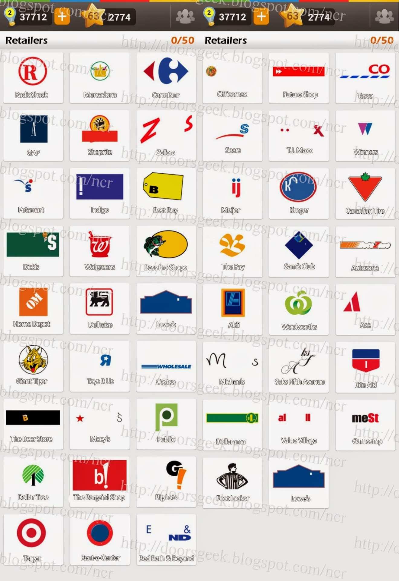 Retail logo quiz flashcards on Tinycards.
