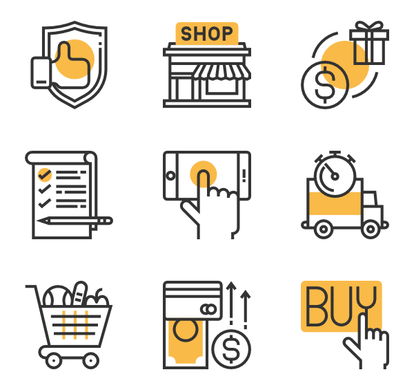 61 retailer icon packs.