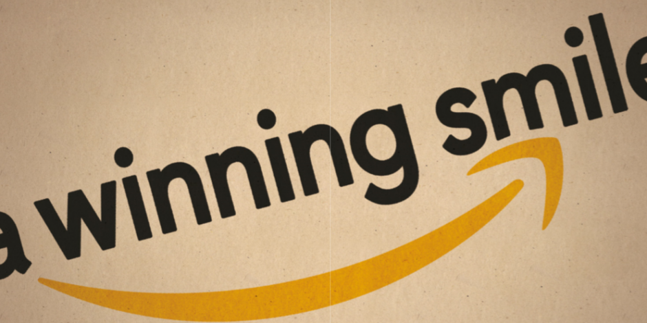 Amazon: a look at the logo fronting the world\'s biggest.
