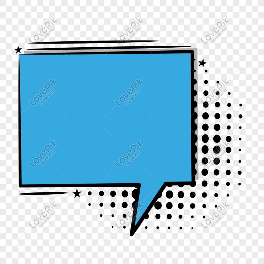um diálogo de retângulo azul Imagem Grátis_Gráficos Número.