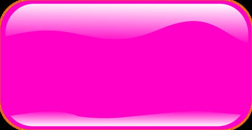 Retângulo horizontal forma botão rosa vetor clip.