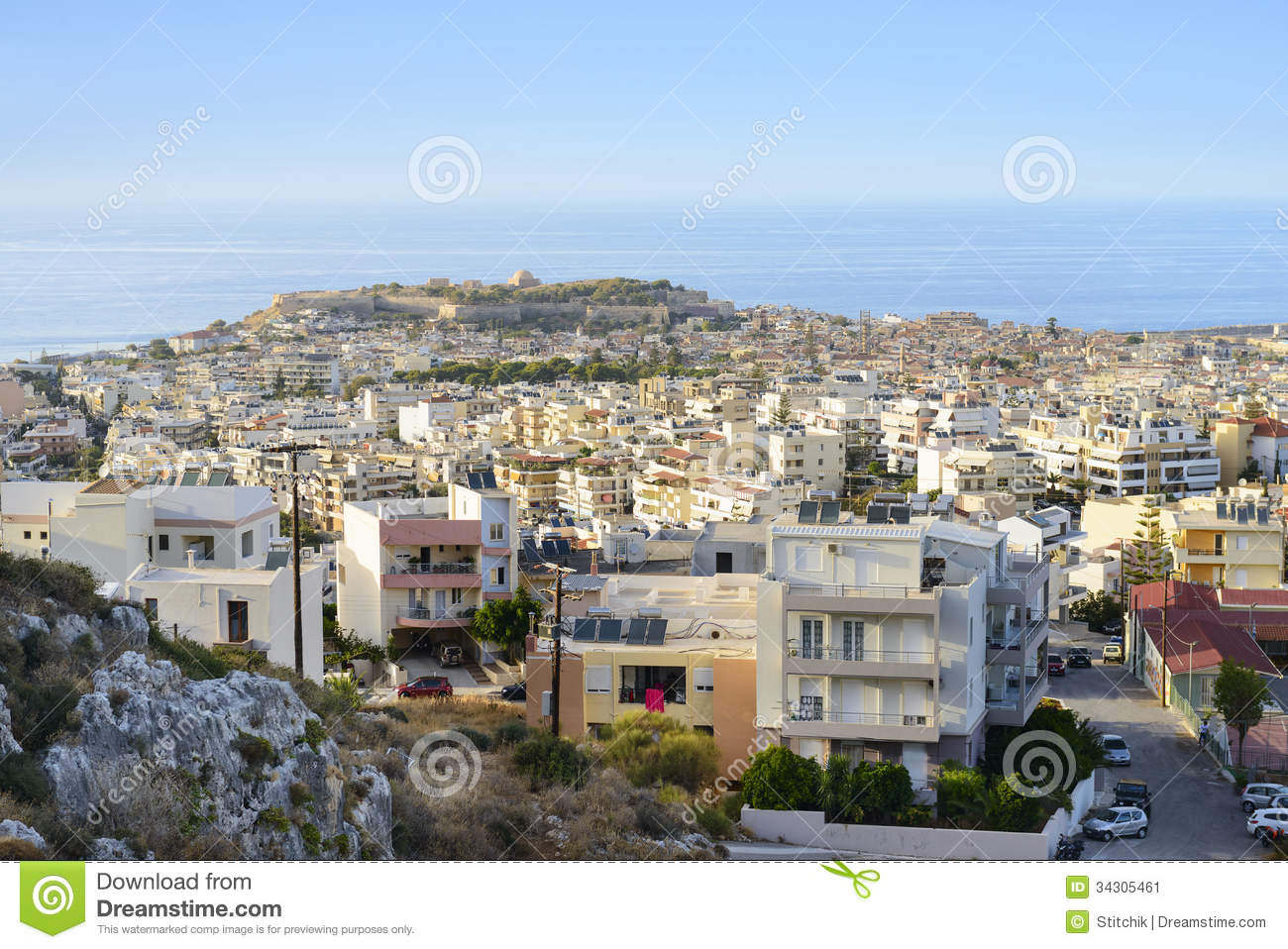 View On Rethymno Town. Crete. Greece Stock Image.