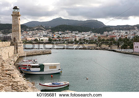 Stock Photography of Rethymno town k0195681.