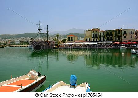 Stock Photo of In Old Venetian Port of Rethymno.