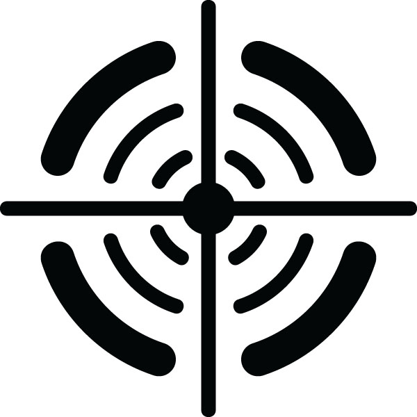 Reticle Symbols Icon For Custom Engraved Products & Gifts.