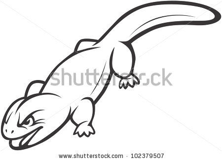 Wild Gila Monster Illustration Stock Vector 102379507.