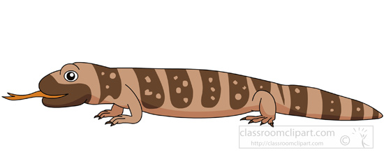 Banded gila monster clipart.