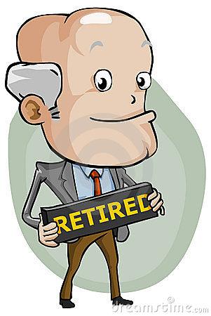 Retired Man Clipart.