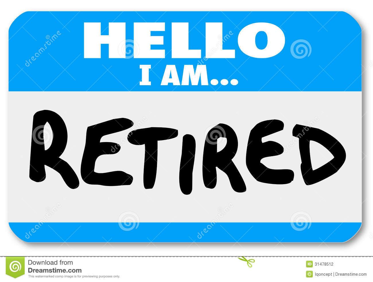 Retirement signs clip art.
