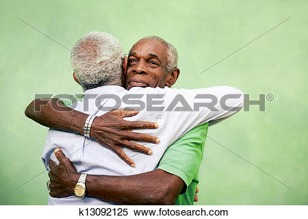 Stock Image of Active retired old men and leisure, two senior.