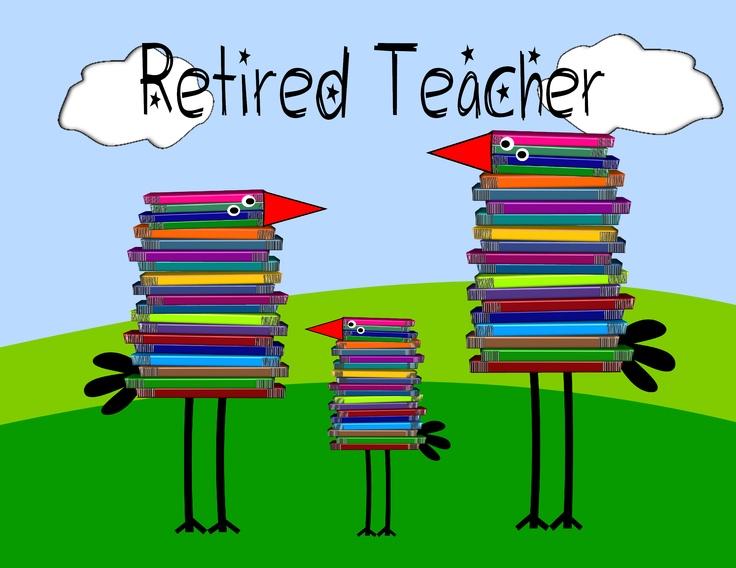 retired teacher clipart.