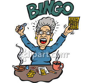 Retired Woman Clipart.