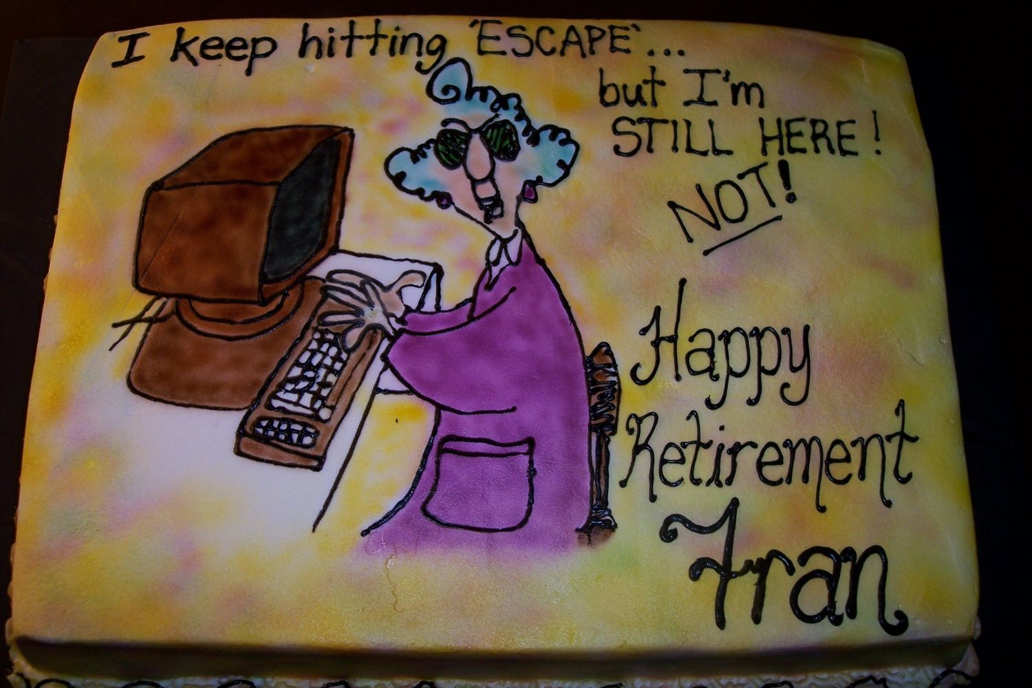 Maxine Funny Retirement Clipart.