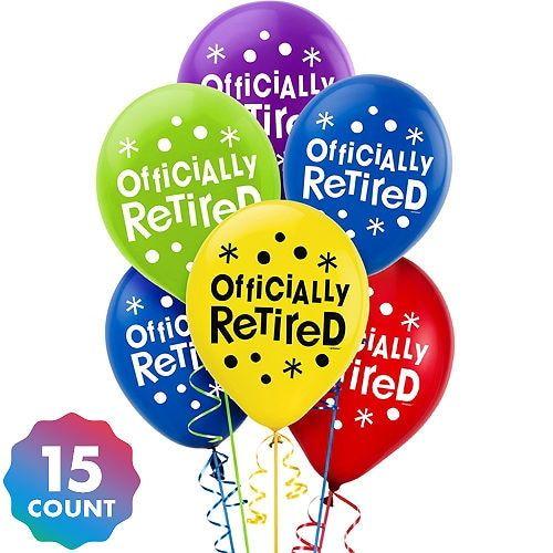 Happy Retirement Celebration Balloons 15ct.