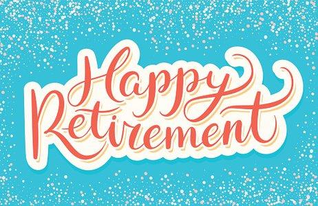 Happy Retirement banner. Clipart Image.