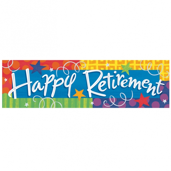 Retirement banners clipart.