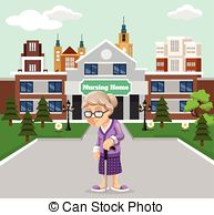 Nursing home building Vector Clip Art EPS Images. 24 Nursing home.