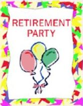 Free Retirement Party Clipart.