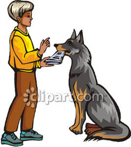 Retrieving Paper For Man Royalty Free Clipart Picture.