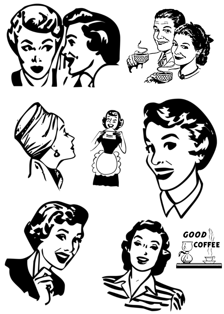 50s food clipart free.