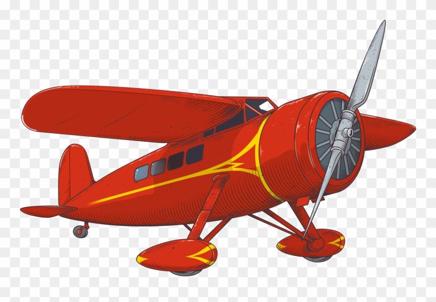 Plane Clipart Retro.