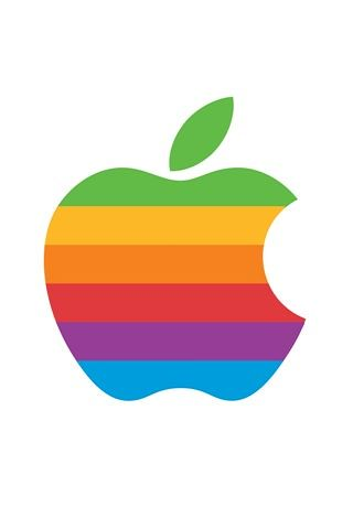 Retro Apple Logo.