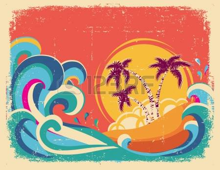34,953 Retro Beach Stock Vector Illustration And Royalty Free.