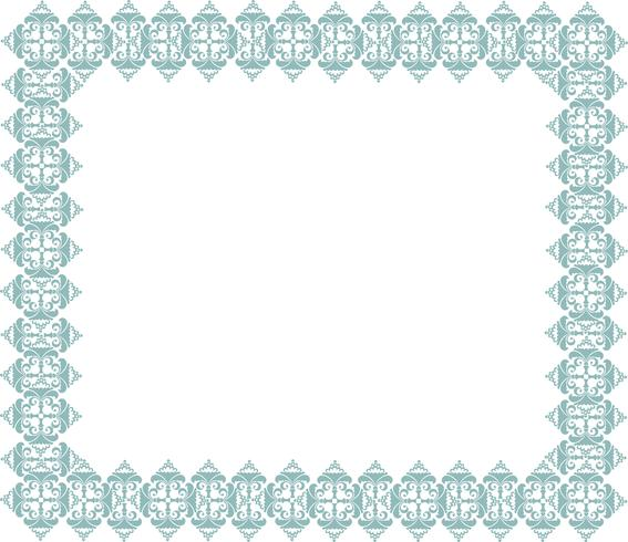 Frame in doodle style. Retro border.