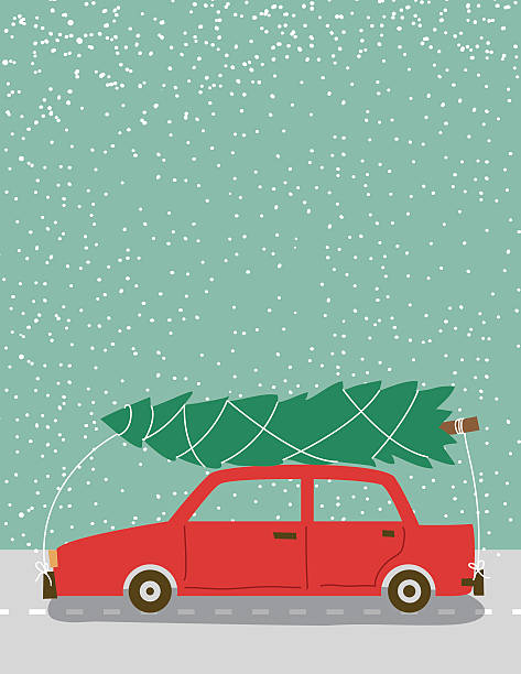 Christmas Tree Car Clip Art, Vector Images & Illustrations.