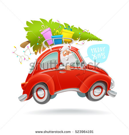 Christmas Tree Car Stock Images, Royalty.