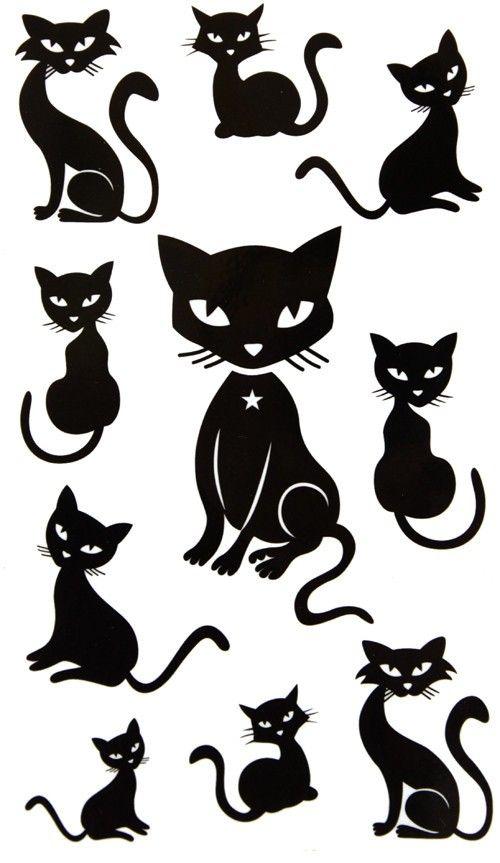 Retro Cat Silhouette.