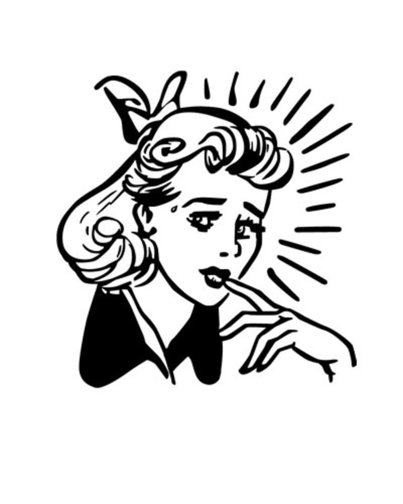Retro Clip Art 1950.