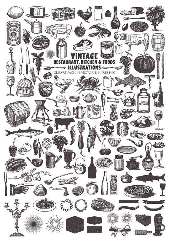 Retro clipart food, Retro food Transparent FREE for download.