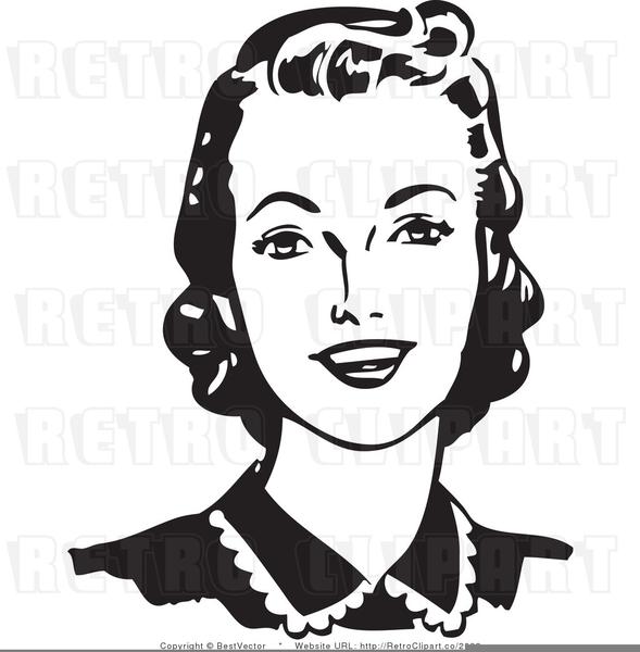 Free Retro Clipart Woman.