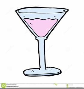 Retro Cocktails People Clipart.