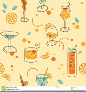 Retro Cocktails Clipart.