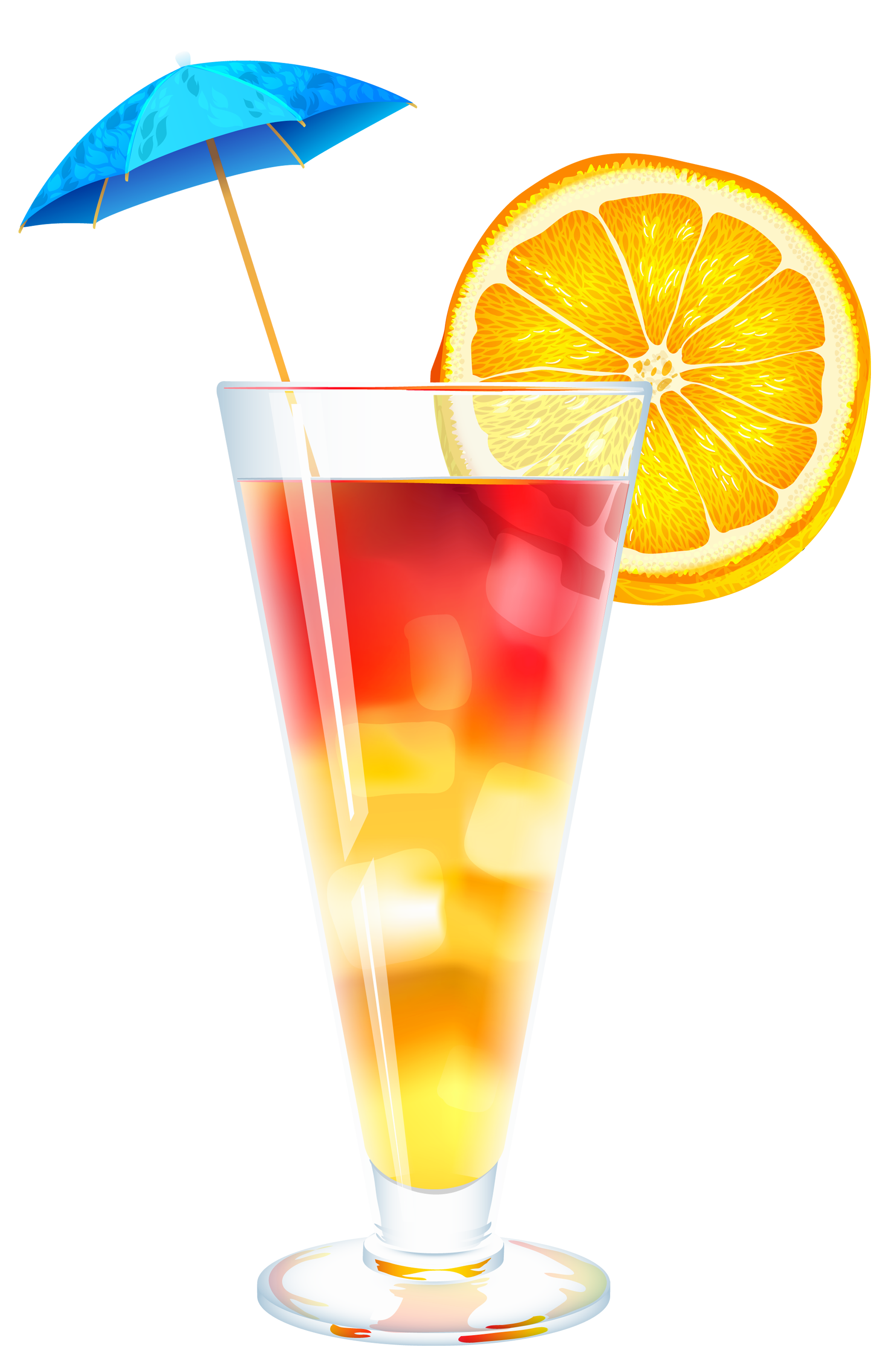 Summer Cocktail PNG Clipart Image.