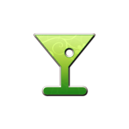 Retro Green Floral Icons Food Beverage » Icons Etc.