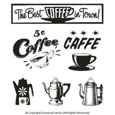Coffee Cup Signs.