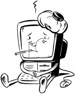 Retro Computer Clipart.